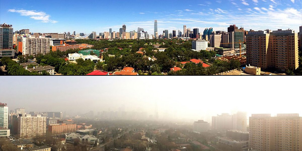 Pekin'de yıllar sonra ilk kez gökyüzü göründü