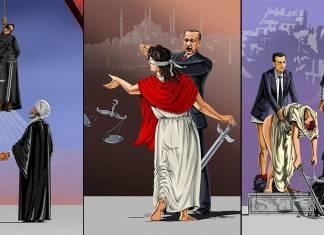 Adalet kavramının devletlere göre değişimini gösteren 13 illüstrasyon