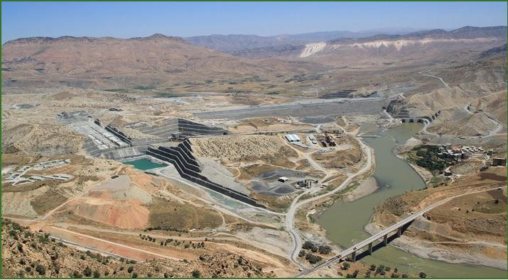 Ilısu Barajı Projesi (Fotoğraf: Cengiz İnşaat Web Sitesi)