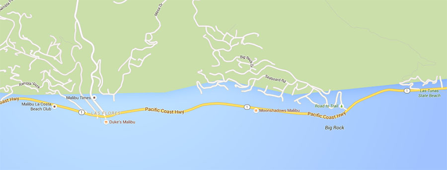 Malibu Google Maps copy