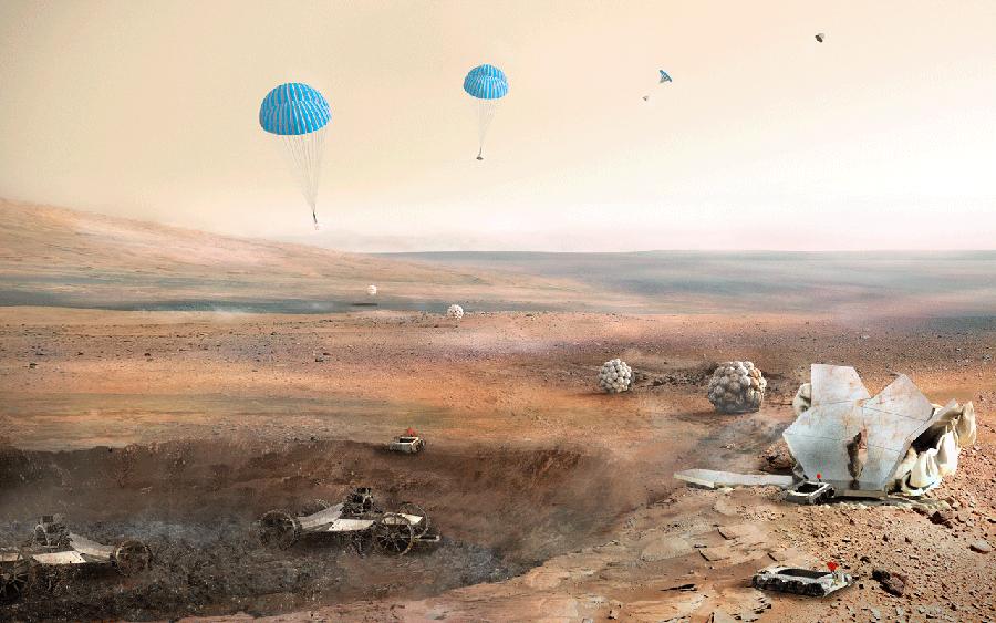 Mars 3 boyutlu baskı 1