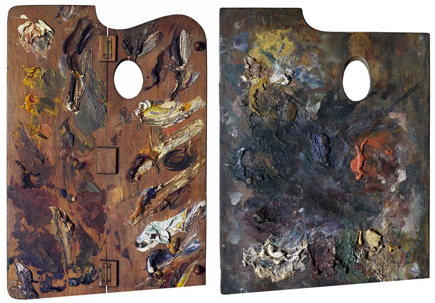 Palette of Paula Modersohn-Becker Palette of Henri de Toulouse-Lautrec