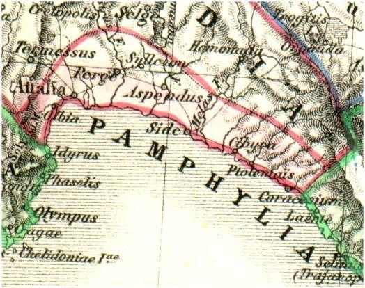 Pamfilya eski harita