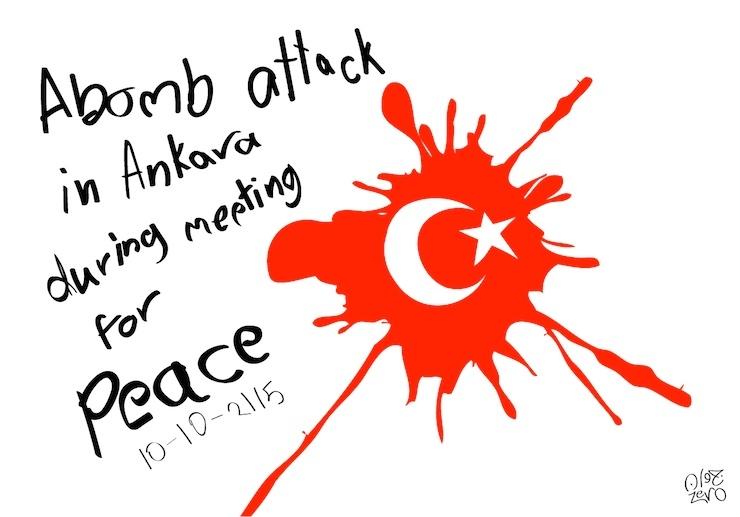 Ankara Katliamı Karikatür 4