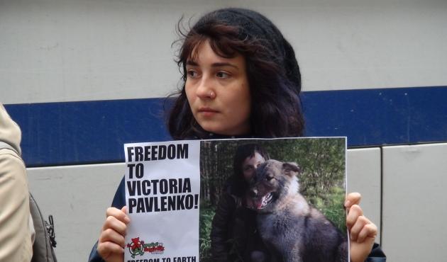 Hayvan hakları aktivisti Victoria Pavlenko ile dayanışma eylemi 3