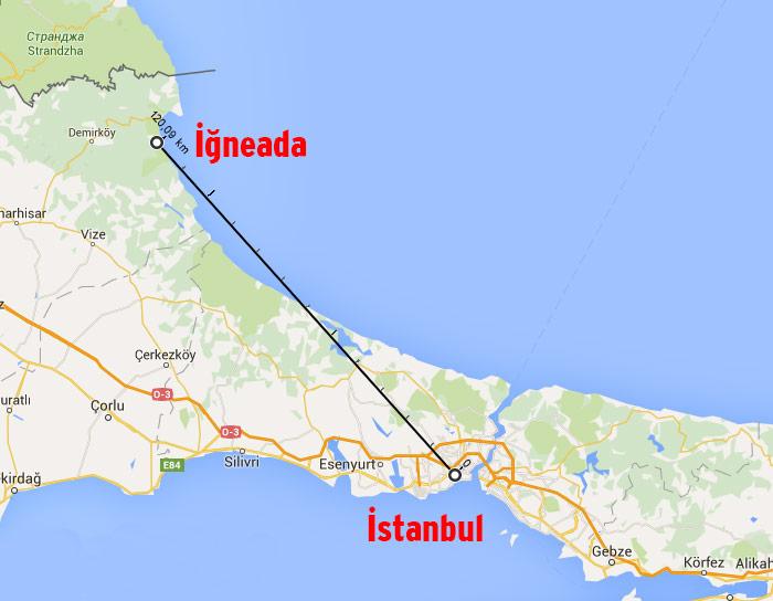 haritada iğneada