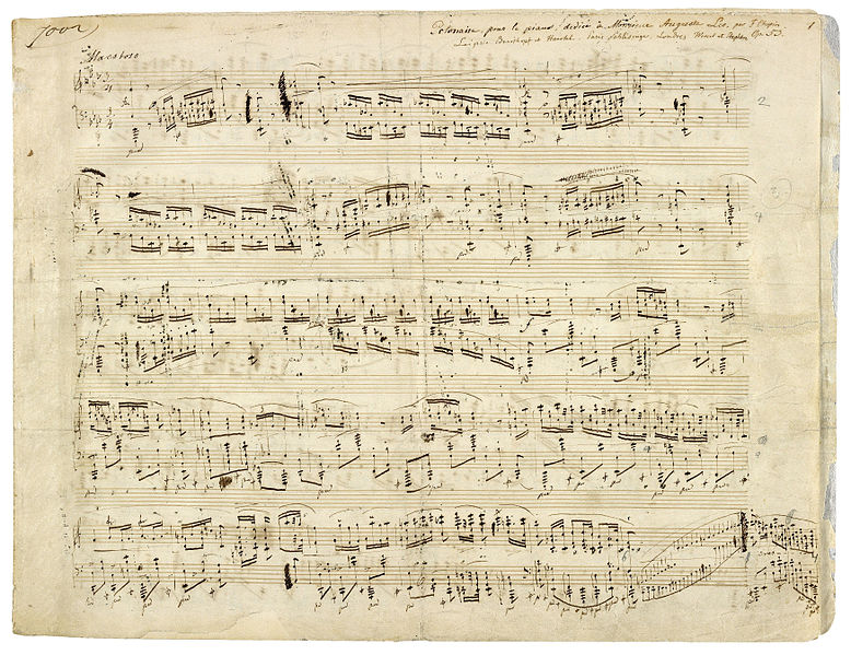 polonez op 53 (kendi el yazısı)  Savaşın koynunda, aşkın narin sesi: Frédéric Chopin polonez op 53 kendi el yaz C4 B1s C4 B1