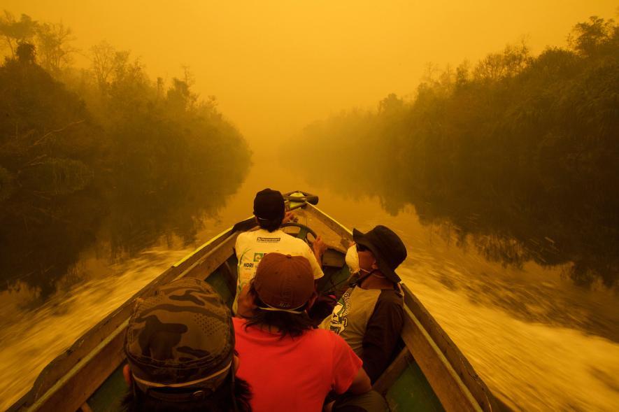 21. yüzyılın en büyük çevre felaketi Endonezya'da yangın ve pus 2