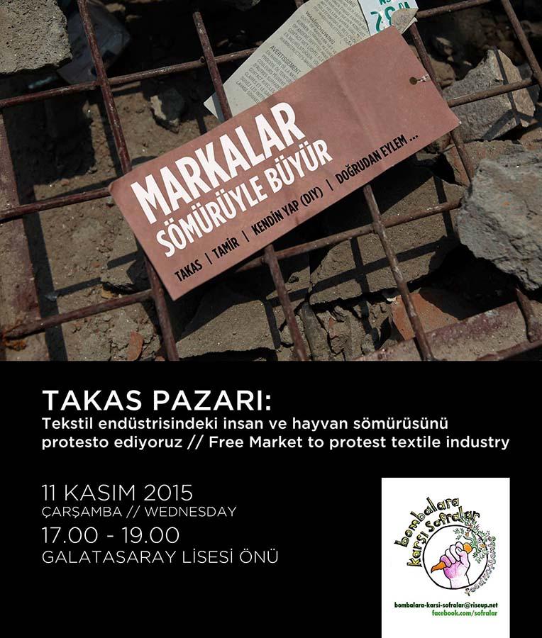 Bombalara karşı sofralar, Taksim'e takas pazarıyla dönüyor! 2