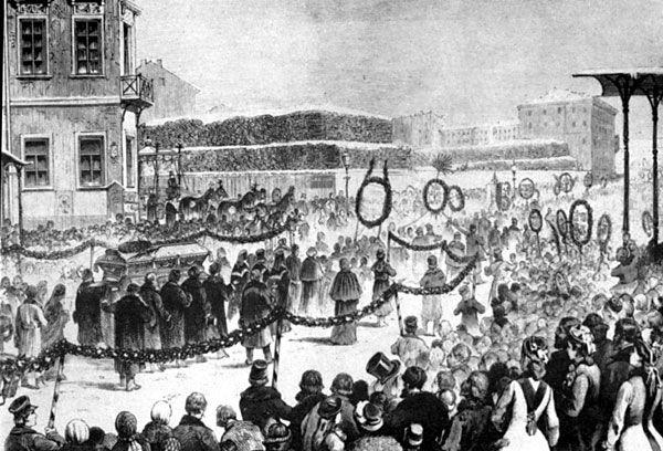 Dostoyevski'nin cenaze töreni