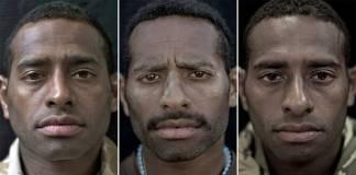 Savaşın korkunç etkileri, portreleri çekilen askerlerin yüzlerinde vücut buluyor
