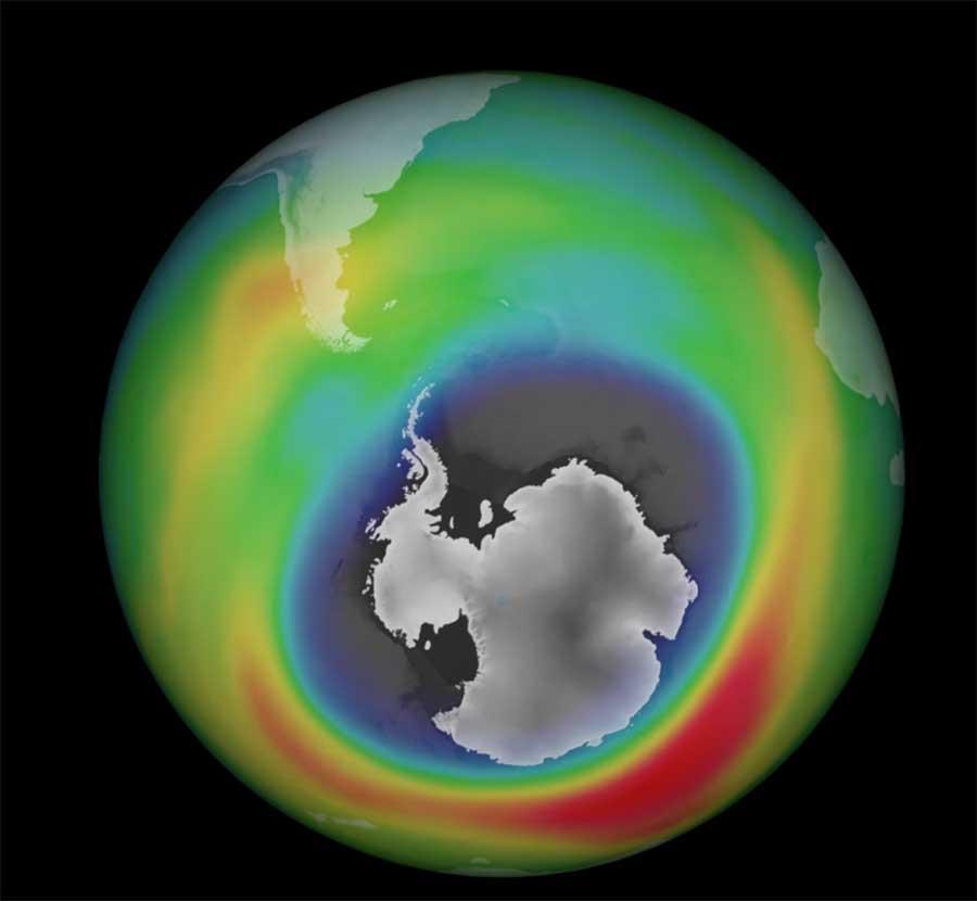 Ozon deliği şimdi Kuzey Amerika'dan daha büyük