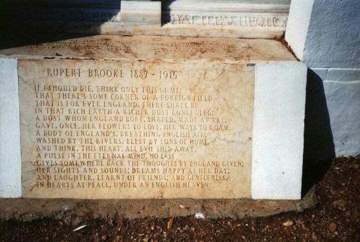 rupert brooke war poetry peace