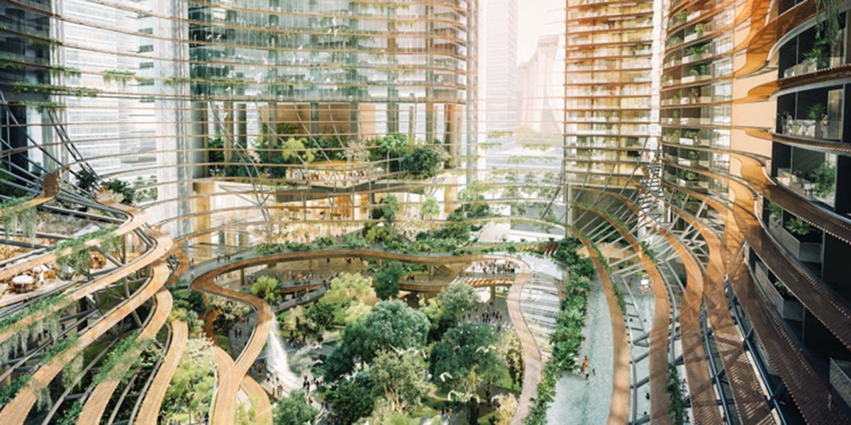 """Yeşille ve iklimle entegreli bir tasarım: """"Yeşil Kalp"""""""