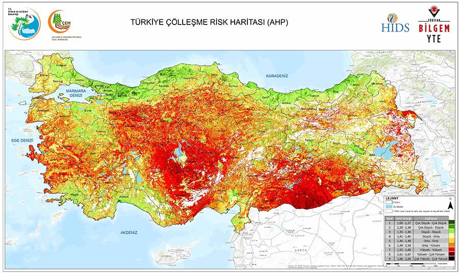 çölleşme risk haritasi