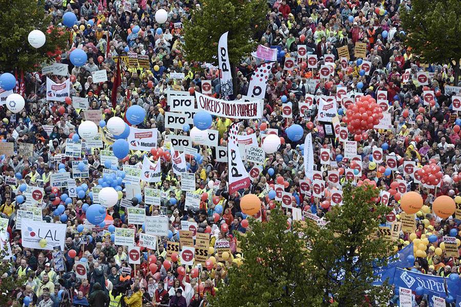 Finlandiya Protesto