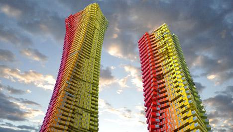 Mumbai'de gökdelen tasarım yarışması öneri proje, CRG Architects