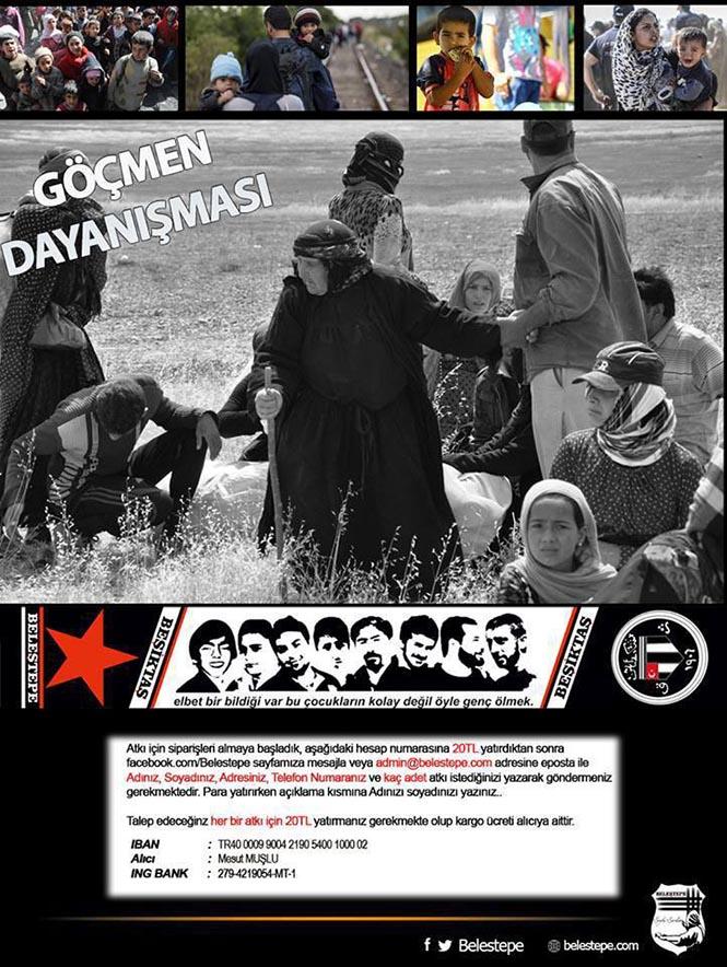 Muhalif taraftar grubundan göçmenlerle dayanışma kampanyası
