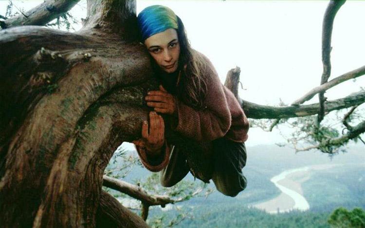 Julia Butterfly Hill  Ağaca sarıl, ayıyı öp! 0 hugging trees is good for you