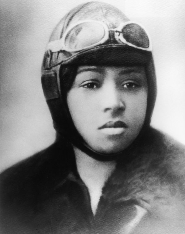 Portrait of Bessie Coleman, circa 1920s. (Photo by Fotosearch/Getty Images).