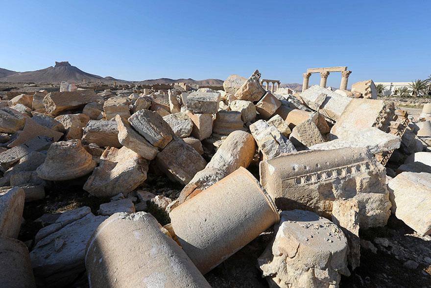 Bel Tapınağı'nın iç kısmından arda kalanlar
