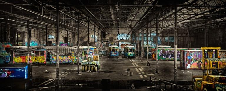Glebe Tramvay Hangari - Sidney, Avustralya