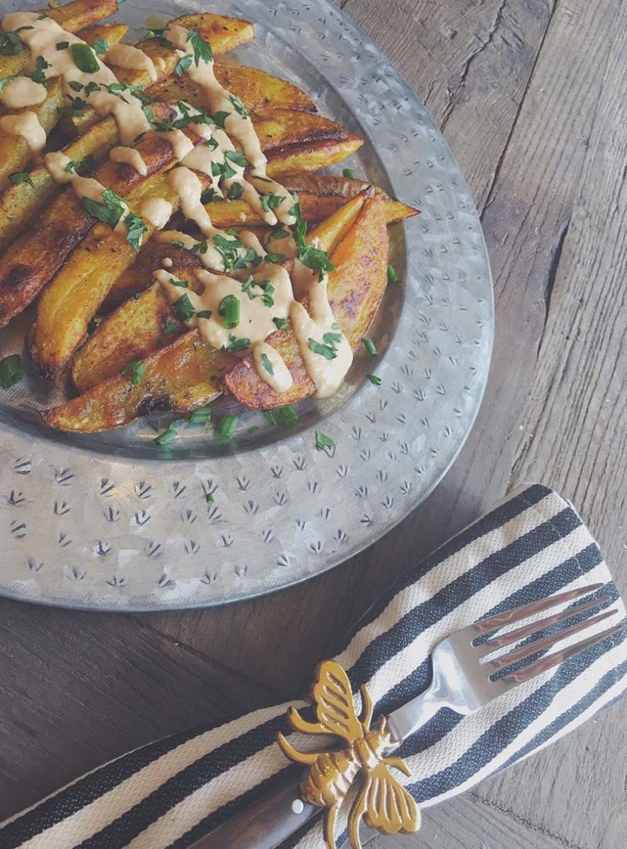 humus soslu firinda patates