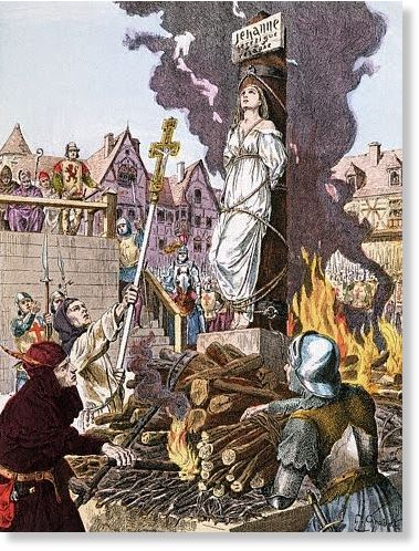 Illustration of Joan of Arc Being Burned at the Stake --- Image by © Leonard de Selva/CORBIS