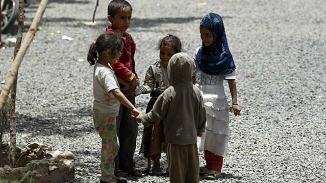 Yemenli çocuklar