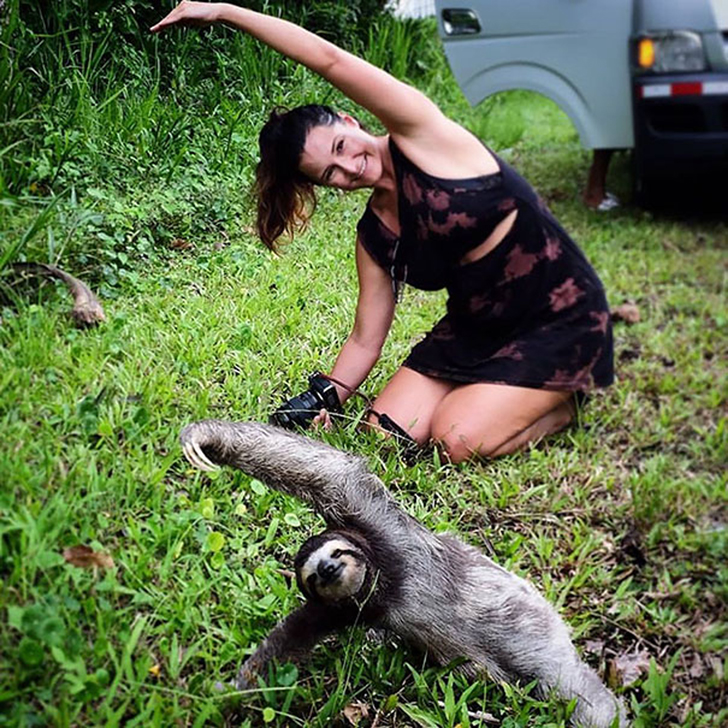 Birbirinden sevimli hayvanlardan yoga pozisyonlari_ 16