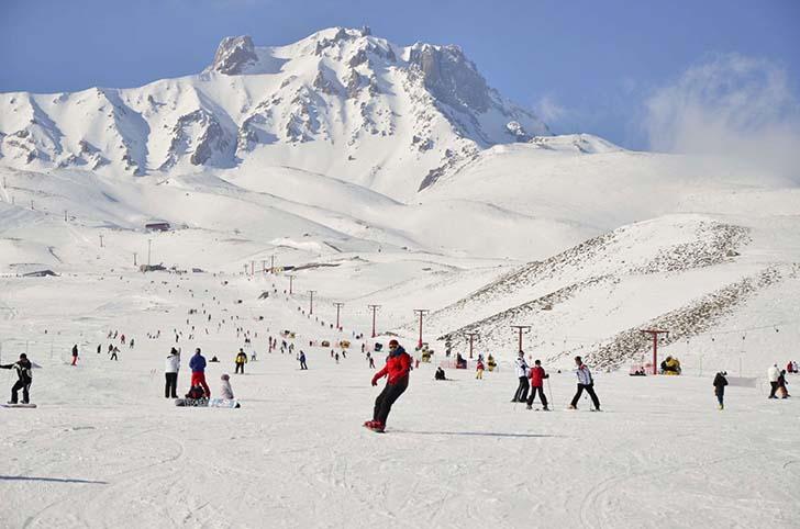 Erciyes doğa sporları ve kış sporlarına elverişli bir doğaya sahip.
