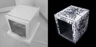 Küçük buzdolabını sanat eserine dönüştürmek için 300 saat