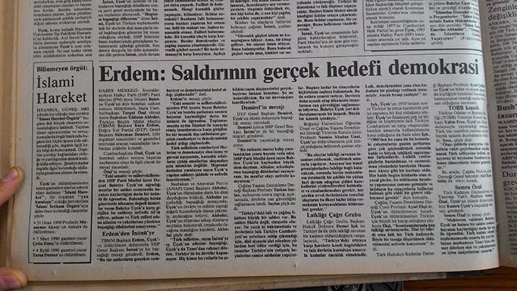 Bahriye Üçok, Güneş Gazetesi, 14 Ekim 1990