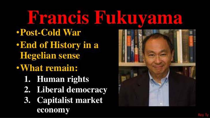 "fukuyamas end of history thesis Essays and criticism on francis fukuyama - critical essays fukuyama's ""end of history"" thesis attracted heated controversy among a wide range of historians."