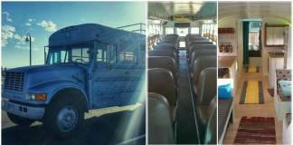 """90'ların okul servisi rüya gibi bir eve dönüştü: """"Big Blue"""""""