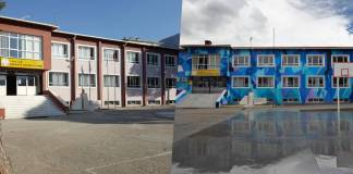 Akçaova Anadolu Lisesi şimdi graffitiler ile rengarenk!