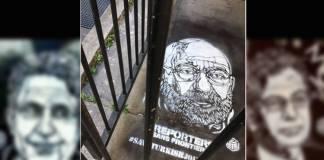 Türkiye'deki tutuklu gazetecilerin yüzleri Paris sokaklarında