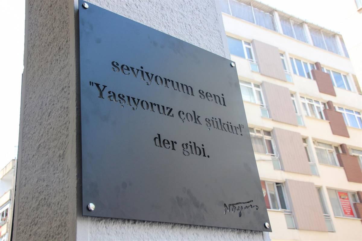 Nazım Hikmet şiirleri Kadıköy duvarlarında