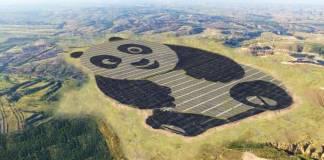 Dünyanın en şirin güneş enerjisi santrali panda şeklinde