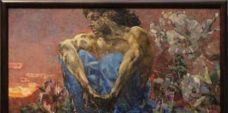 "Mikhail Vrubel'in 1890 tarihli eseri ""DemonSeated"""